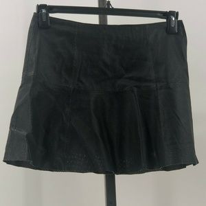 Wilsons leather perforated leather skirt black S